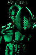 Nfl Prints - Gang Green Challenge Print by Val Black Russian Tourchin