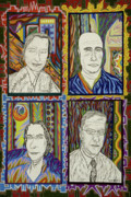 Teenager Pastels Posters - Gang of Four Poster by Robert  SORENSEN
