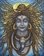 Moon Paintings - Gangadhara Shiva by Vrindavan Das