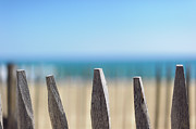 Fence Row Photos - Ganivelles At Ste Maxime Beach, Golfe De St-tropez by Alexandre Fundone
