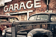 Old Country Roads Digital Art - Garage by Jeremy Holmes