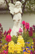 Guardian Angel Photo Posters - Garden angel Poster by Toni Hopper