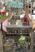 Birdhouse Photos Photos - Garden Birhouse  by Joyce StJames