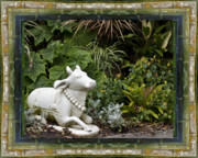 Contemplative Metal Prints - Garden Bull Metal Print by Bell And Todd