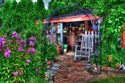 Beautiful Artwork Mixed Media - Garden Center by Robert Pearson