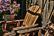 Patio Prints - Garden Chairs Print by Bonnie Bruno
