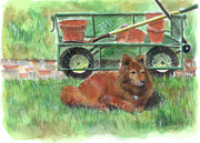 Garden Tools Prints - Garden Companion Print by Sheryl Heatherly Hawkins