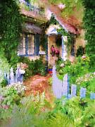 Pathway Digital Art - Garden Cottage by Alice Schear