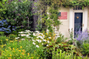4th July Metal Prints - Garden Cottage Metal Print by Bill  Wakeley