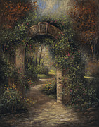 Solace Painting Prints - Garden Entrance Print by Sergei Kasaz