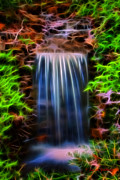 Clemson Art - Garden Falls Fractalized by Lynne Jenkins