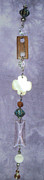 Dance Jewelry Originals - Garden Fob White Wood Shell Flower  by Cheryl Raber