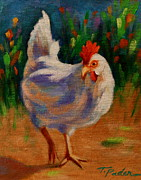 Hen Paintings - Garden Gal by Theresa Paden
