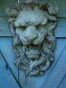 Gargoyle Lion Prints - Garden Gargoyle  Print by Andrea Kollo