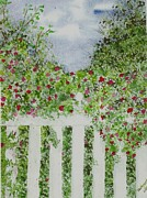 Garden Scene Paintings - Garden Gate by Pam Newcomb