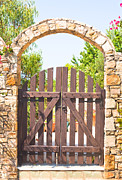 Medieval Entrance Posters - Garden gate Poster by Tom Gowanlock