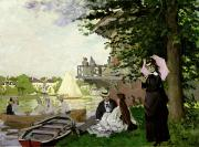 Punting Prints - Garden House on the Zaan - Zaandam Print by Claude Monet