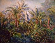 Bell Paintings - Garden in Bordighera Impression of Morning by Claude Monet
