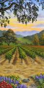 Napa Valley Vineyard Paintings - Garden in Fall by Patrick ORourke