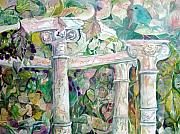 Columns Originals - Garden in Venice Italy by Mindy Newman