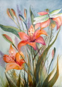 Marsha Woods - Garden Lily Watercolor