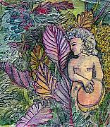 Angel Greeting Cards - Garden Muse by Mindy Newman