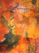 Lyrical Mixed Media - Garden Muse by Suzanne Kfoury