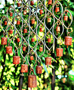 Wind Chimes Framed Prints - Garden Noah Bells Framed Print by Cheryl Young