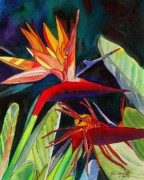 Bird Of Paradise Paintings - Garden of Paradise by Marionette Taboniar
