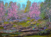 Impressionism Photo Originals - Garden of Pink by Michael Mrozik