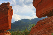 Cloudy Posters - Garden of the Gods - Colorado Springs Poster by Christine Till