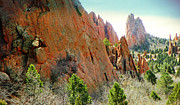 Abstract Expressionist Photo Metal Prints - Garden of the Gods 4 Metal Print by Lenore Senior