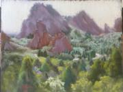 Garden Pastels Originals - Garden of the Gods by Dave Holman