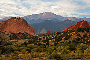 Colorado Mountains Prints - Garden of the Gods Print by Robert Pilkington