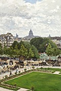 Parisian Streets Posters - Garden of the Princess Poster by Claude Monet