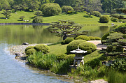 Japanese Garden Framed Prints - Garden of Three Islands Framed Print by Julie Palencia