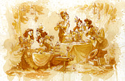 Tea Posters - Garden Party Poster by Brian Kesinger