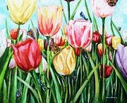 Shana Jackson Paintings - Garden Party by Shana Rowe