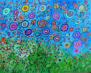 Abstract Paintings - Garden Party by Suzeee Creates