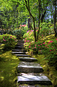 Granger Framed Prints - Garden Path Framed Print by Brad Granger