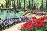 Inspire Paintings - Garden Path by Carmen Weber