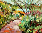 Plein Air Art - Garden Path by Marie Massey