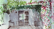 Verandah Paintings - Garden portrait study - Portugal by Rebecca Lilley