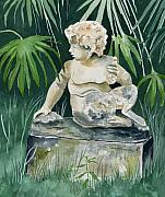 Satyr Paintings - Garden Satyr by Brenda Owen
