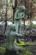 Garden Ornaments Prints - Garden Sculptures Print by Dr Keith Wheeler