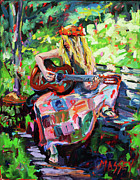 Hippie Painting Originals - Garden Serenade by Marie Massey