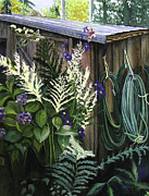 Shed Painting Framed Prints - Garden Shed Framed Print by Darla Sittman