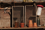 Potting Shed Prints - Garden Shelf Print by Grant Groberg