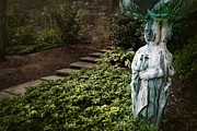 Garden Ornament Framed Prints - Garden Statue Framed Print by Susan Isakson