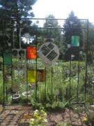 Steel Glass Art - Garden Sun Gate by Todd Timler